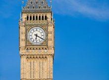 Ilustrasi menara jam Big Ben di London